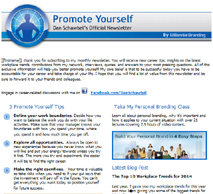 Promote Yourself Newsletter